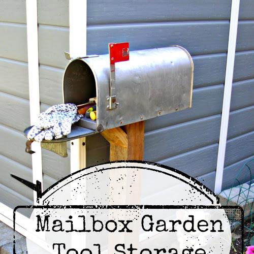 Mailbox Garden Tool Storage - Weekend Yard Work Series