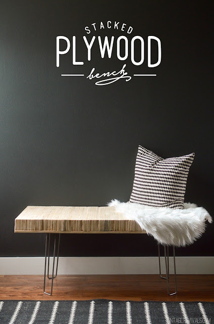 DIY plywood bench