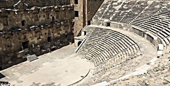 Aspendos Antik Kenti Tarihi : Antik aspendos kenti tiyatrosu ve su kemerleri antalya trt avaz