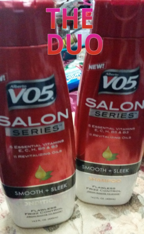 alberto vo5  smooth and sleek shampoo and conditioner