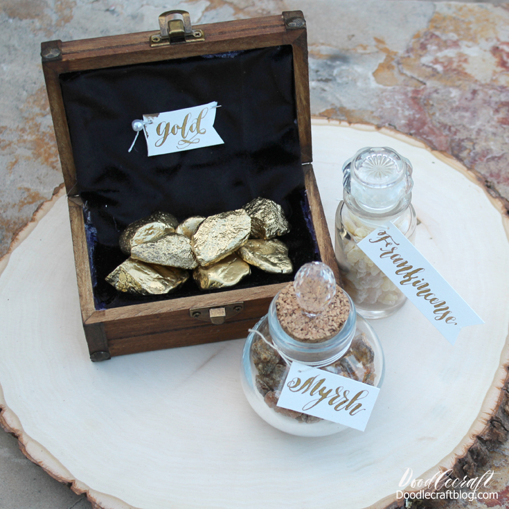 gifts of the magi gold frankincense and myrrh wise men props - Gold Frankincense And Myrrh Christmas Gifts