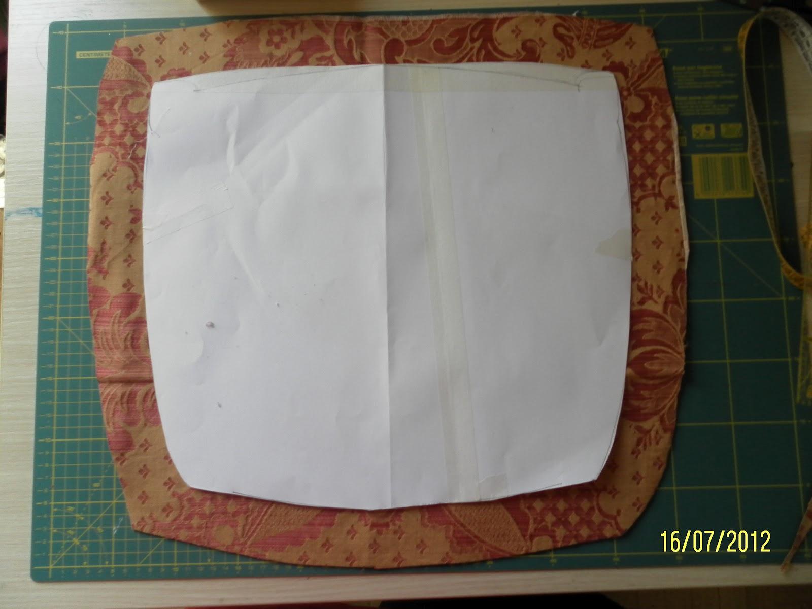 le idee di pizzipazzi: cuscino per sedie - tutorial