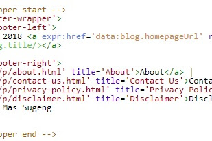 Cara Agar Tahun Copyright Footer Blog Update Otomatis