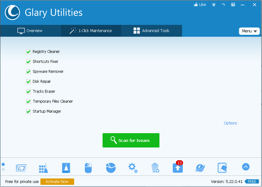 1-Click Maintenance Glary Utilities