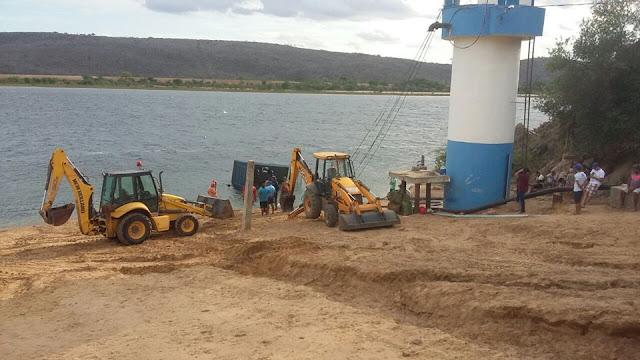 Em Pão de Açúcar, flutuante e bomba do sistema de abastecimento do SAAE submergem e fornecimento de água fica interrompido na cidade