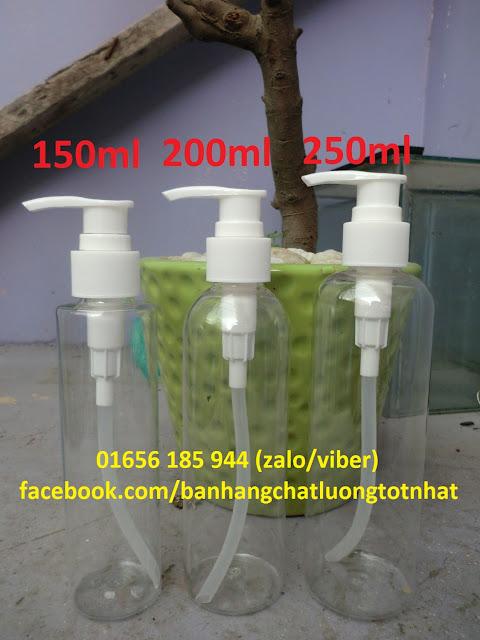 Chai xịt trong ấn giọt 150ml 200ml 250ml