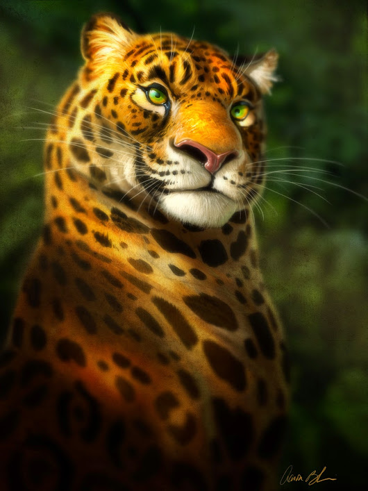 Here's a new character image of a Jaguar for a personal project.