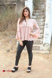 Telugu Actress Aditi Singh Stills in Leather Pants at Nenu Kidnap Iyanu Movie Press Meet  0241.JPG
