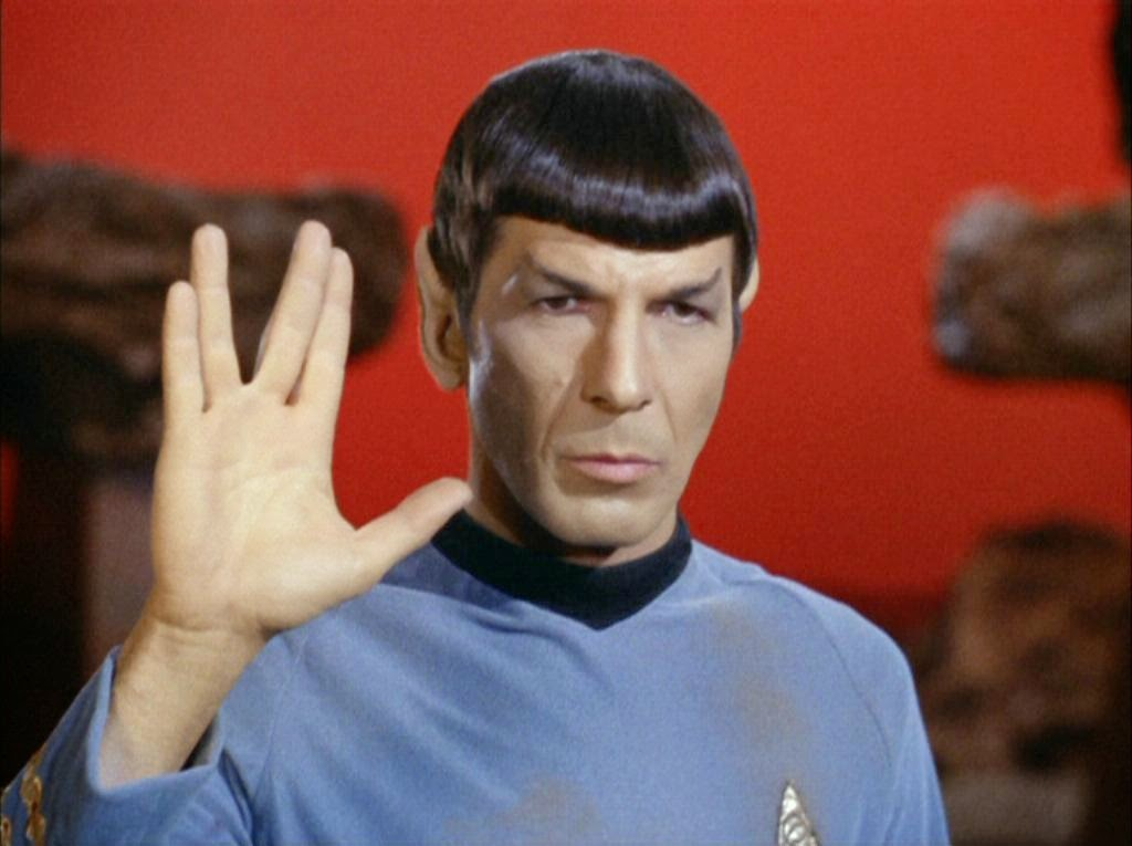 leonard nimoy spock star trek amok time live long and prosper peace and long live gene roddenberry nbc