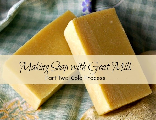 How to make soap with goat milk using the cold process method.