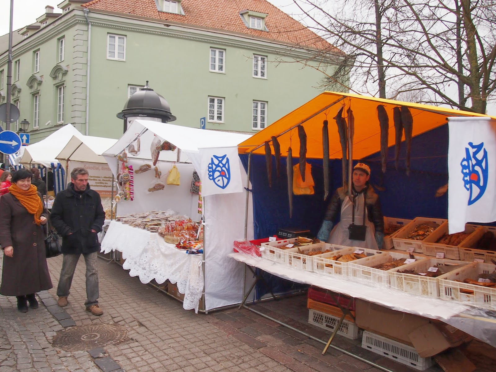 Vendors at St Casmir festival in Lithuania
