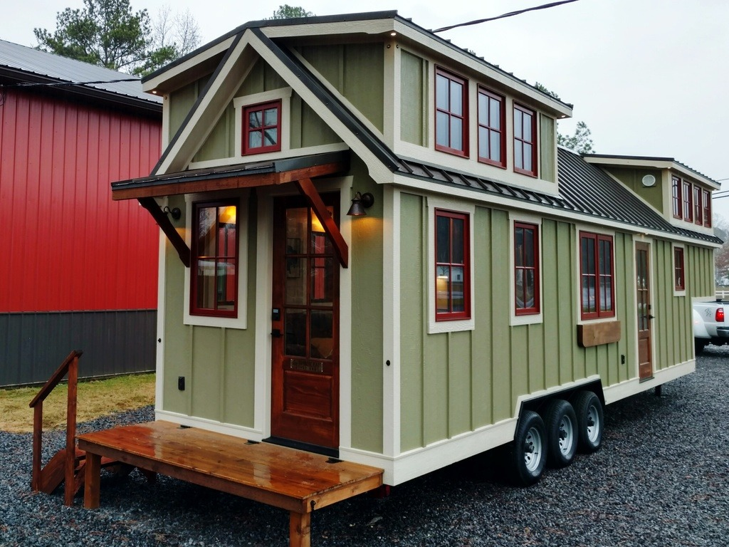 Tiny house town luxury farmhouse by timbercraft tiny for Small home images