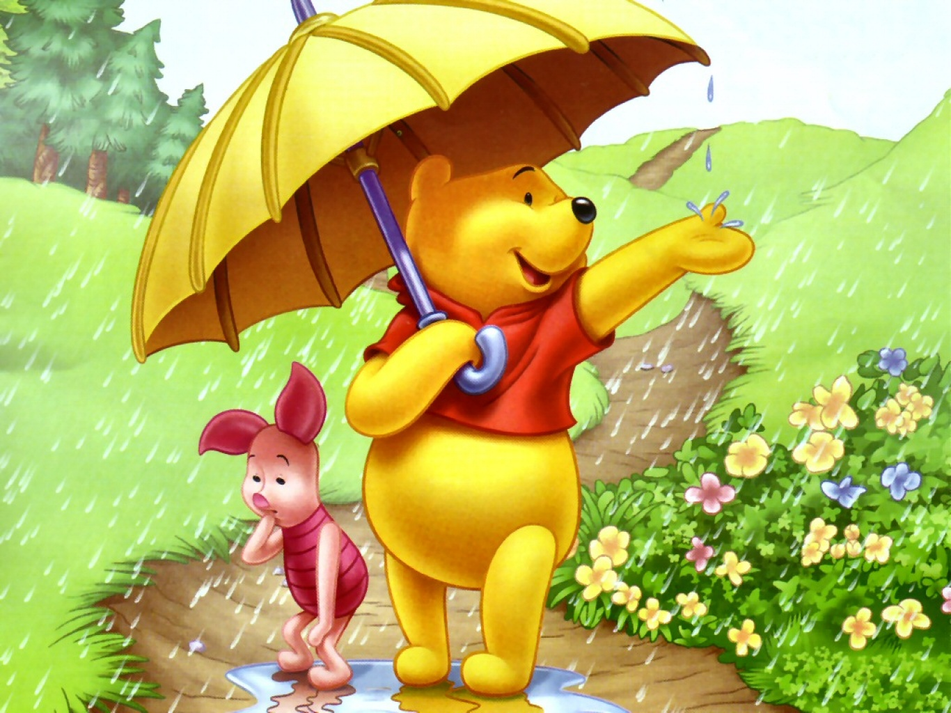 Magic Colour Pencil Wallpaper Free Download Winnie The Pooh With
