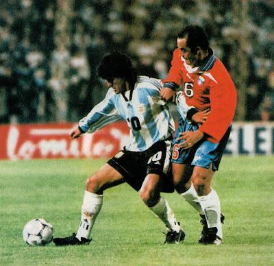 Argentina y Chile en partido amistoso, 19 de mayo de 1998