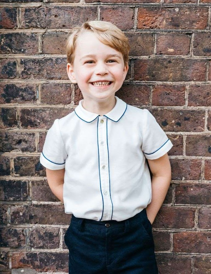 Prince George's Not-So-Shy Birthday Photo Is Here