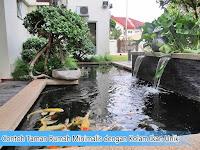 Contoh Taman Rumah Minimalis dengan Kolam Ikan Unik