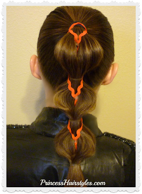 Pull through braid with ribbon. Video instructions.