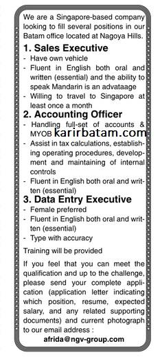 Lowongan Kerja PT. NGV Group Indonesia