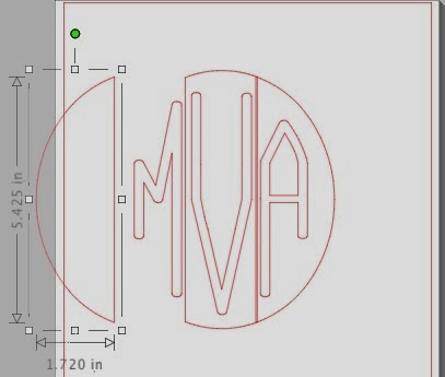 Circle monogram, Silhouette tutorial, free font, Silhouette Studio, release compound path