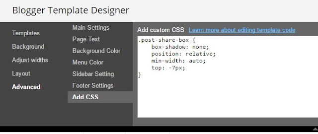 add custom css in blogger