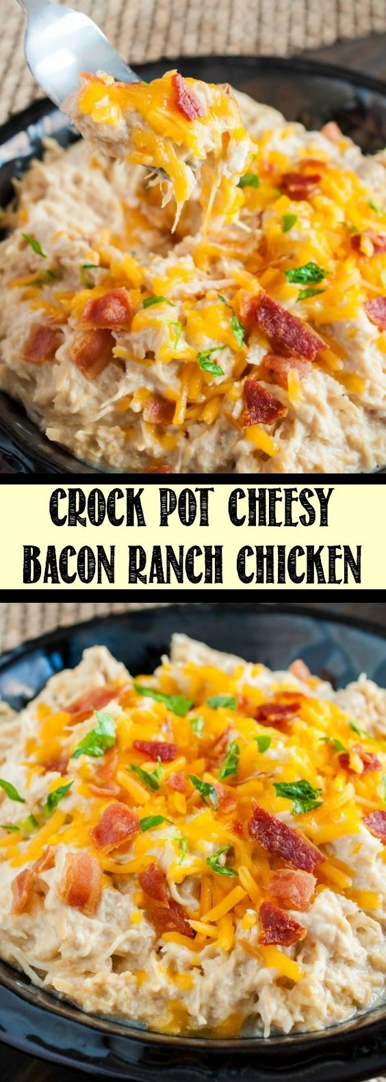 Crock Pot Cheesy Bacon Ranch Chicken