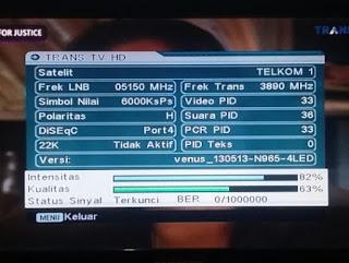 Frekuensi Trans tv terbaru digital parabola satelit telkom 4