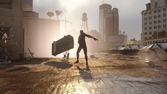 Spiderman threw a freaking car on a guy. DEAD!