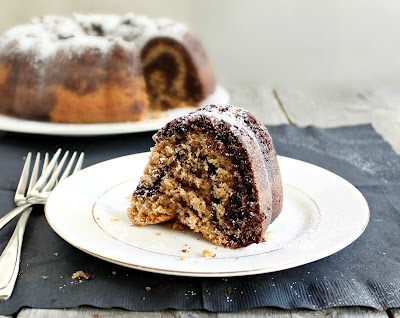 Chocolate and Peanut Butter Swirl Bundt