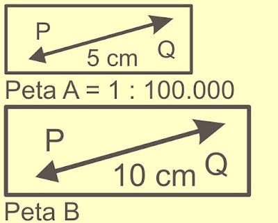 Cara Menghitung Skala Peta Diperkecil Diperbesar