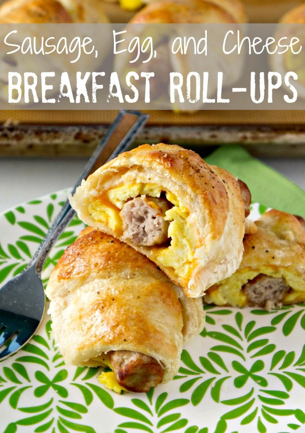 Sausage, Egg and Cheese Breakfast Roll-Ups Recipe