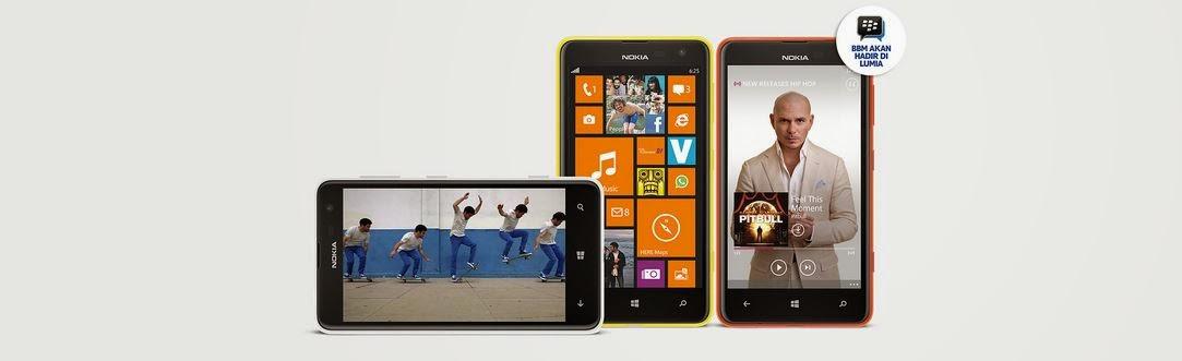 Fitur dan Spesifikasi Nokia Lumia 625