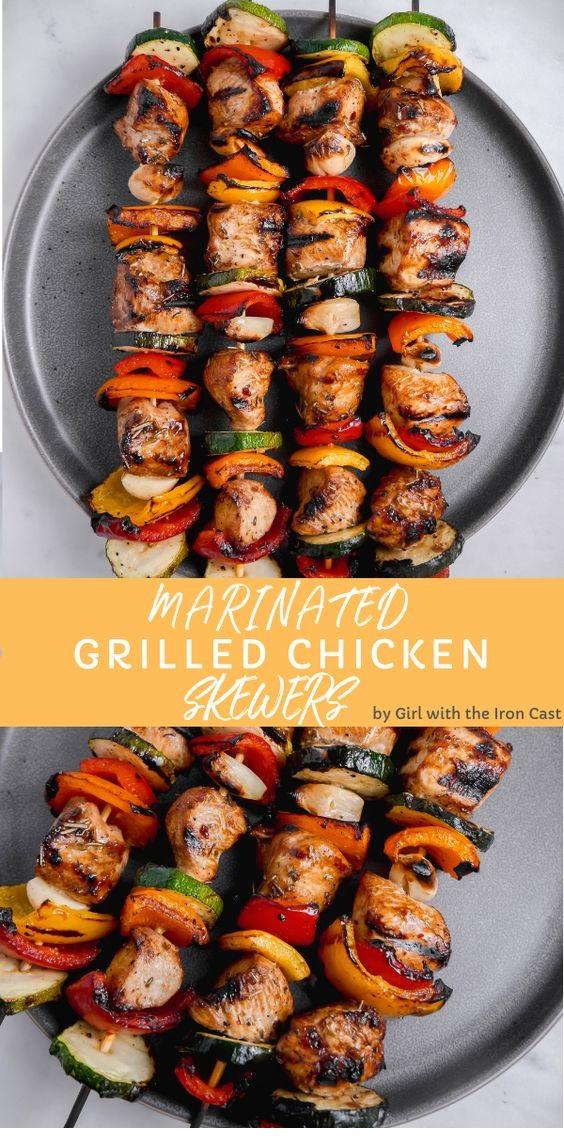 Grilled Chicken Skewers With Go-To Chicken Marinade