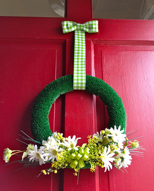 diy artificial turf wreath