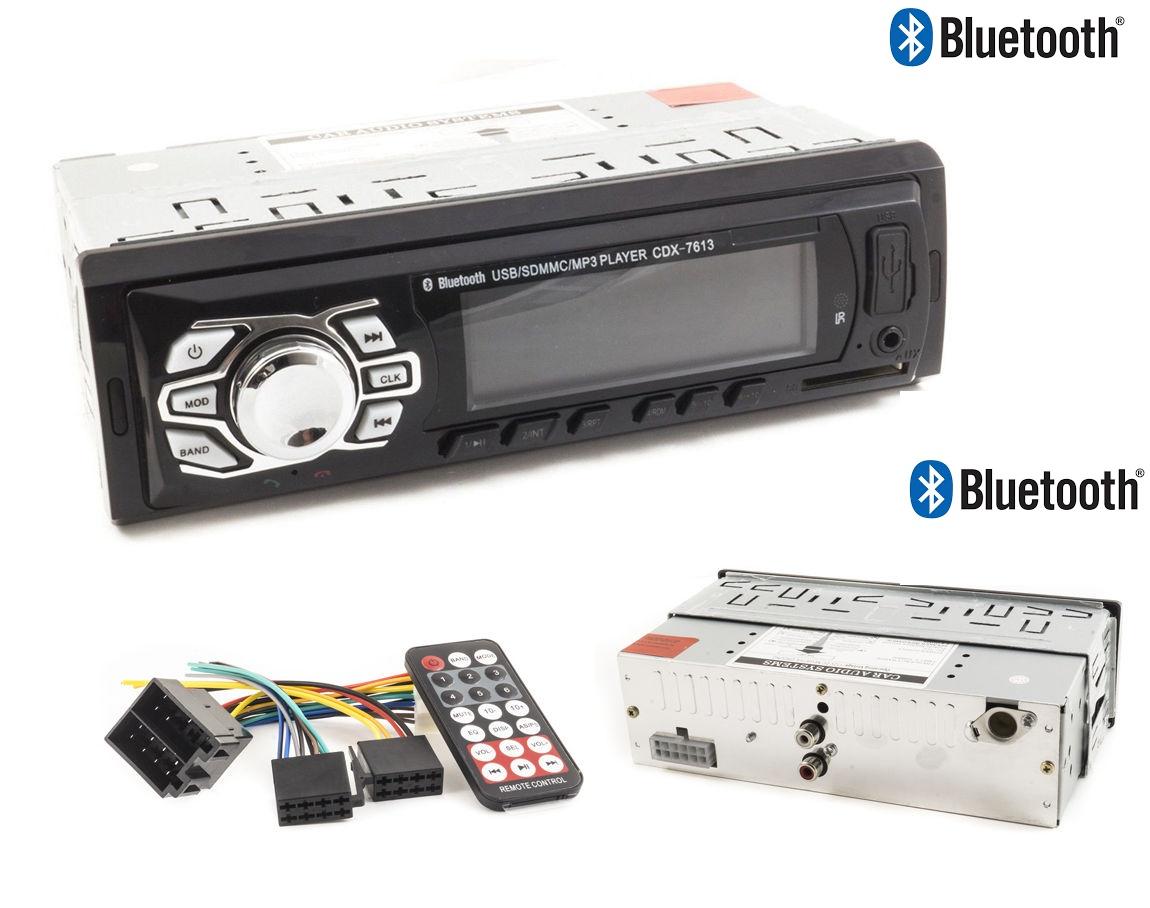 autoradio stereo auto bluetooth fm mp3 slot usb sd aux lcd con telecomando cdx 7613 ingrosso. Black Bedroom Furniture Sets. Home Design Ideas