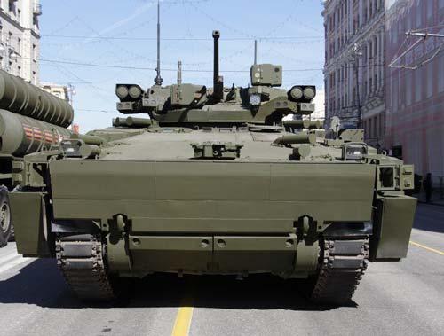 Боевая машина пехоты Б-11 (Объект 695) на платформе «Курганец-25» - вид спереди