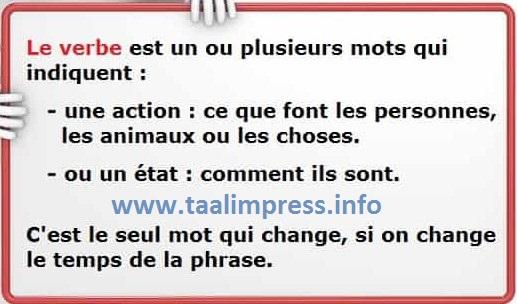 شرح جد جد مبسط لدرس الفعل في اللغة الفرنسية