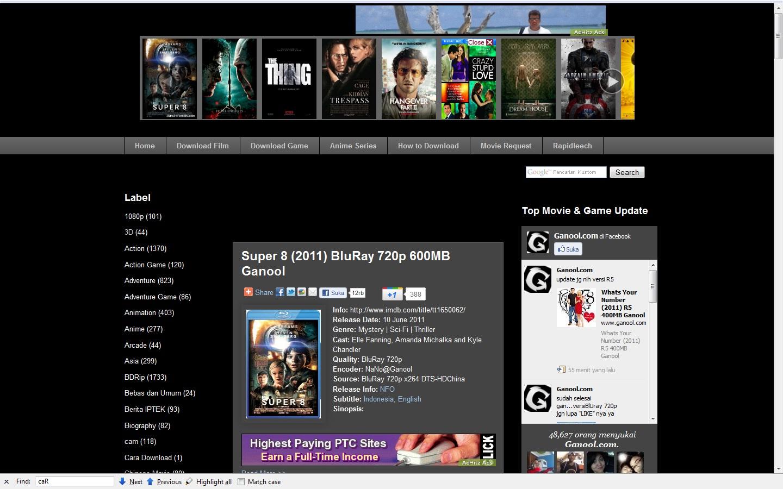 GanOOl, Situs Penyedia Download Film dan Game GRATIS