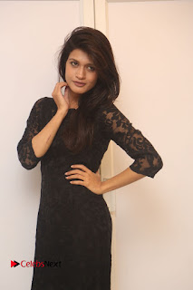 Actress Kimaya Phtoos in Black Short Dress at Kotha Kothaga Unnadi Press Meet 0002