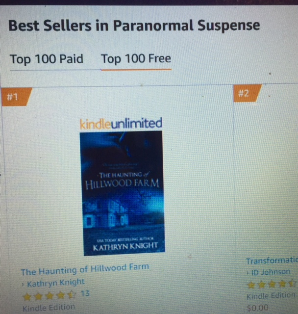 The Haunting of Hillwood Farm hit #1! #Ghosts #Paranormal #Romance