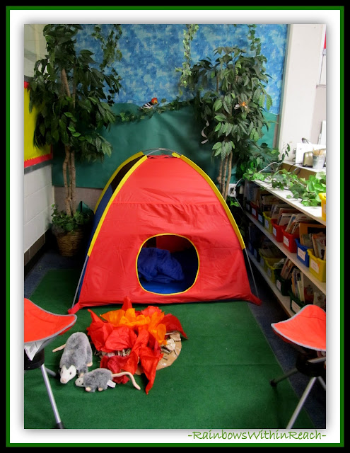 Classroom SetUP for Reading Area (Classroom Decor RoundUP at RainbowsWithinReach)