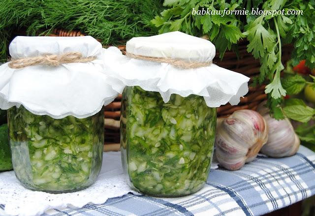 ogórki kiszone na zupę przetwory na zimę babkawformie.blogspot.com