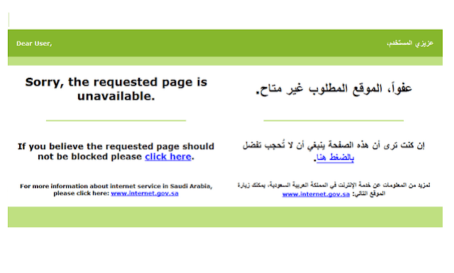 SAUDI ARABIA BLOCKED 1.2 MILLION WEBSITES AND LINKS IN 2017