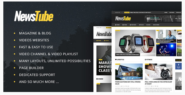 Free download Premium NewsTube – Magazine Blog & Video WordPress ...