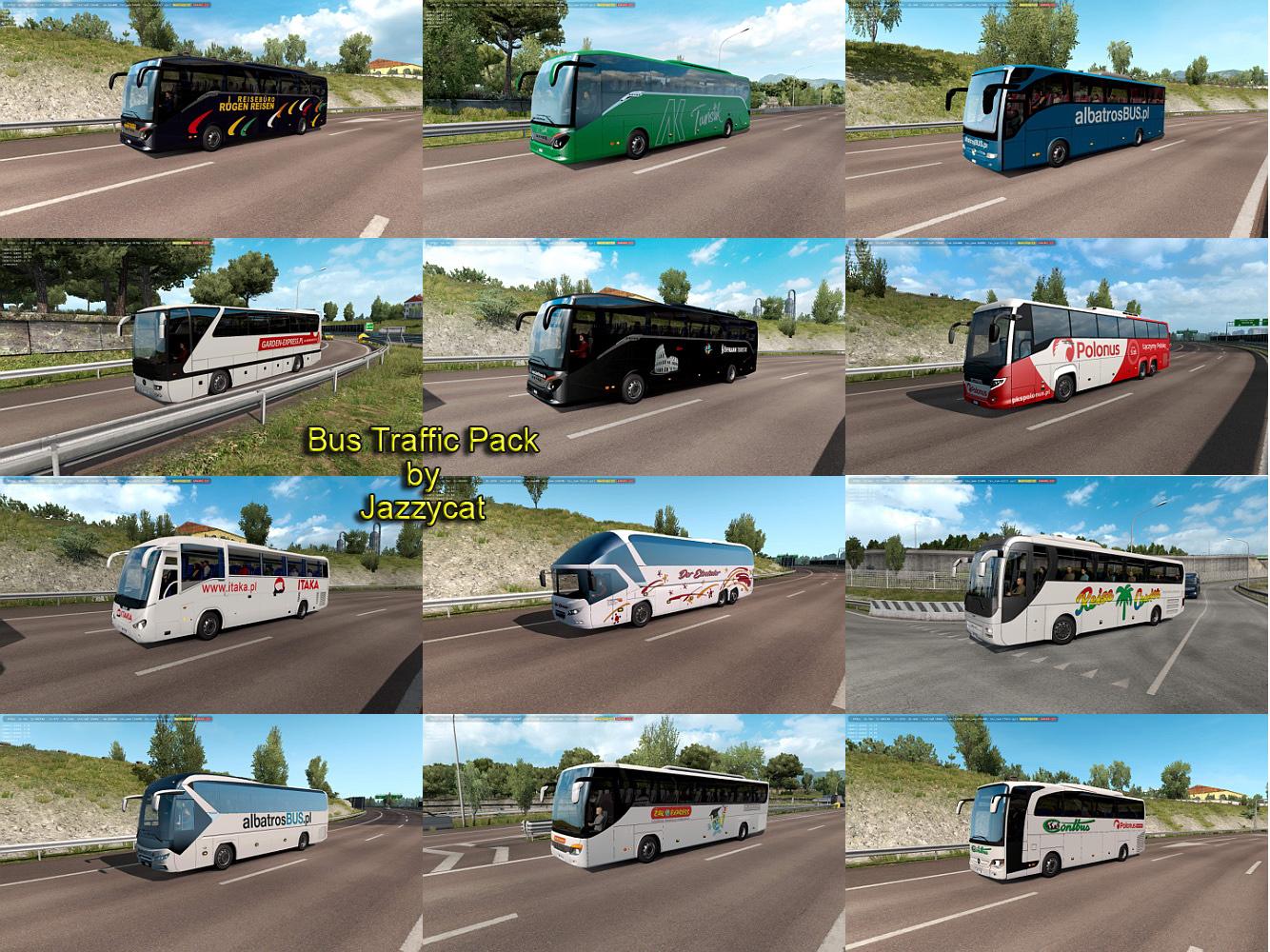 Sinagrit Baba's Workshop: ETS 2 - Bus Traffic Pack v6 1 by