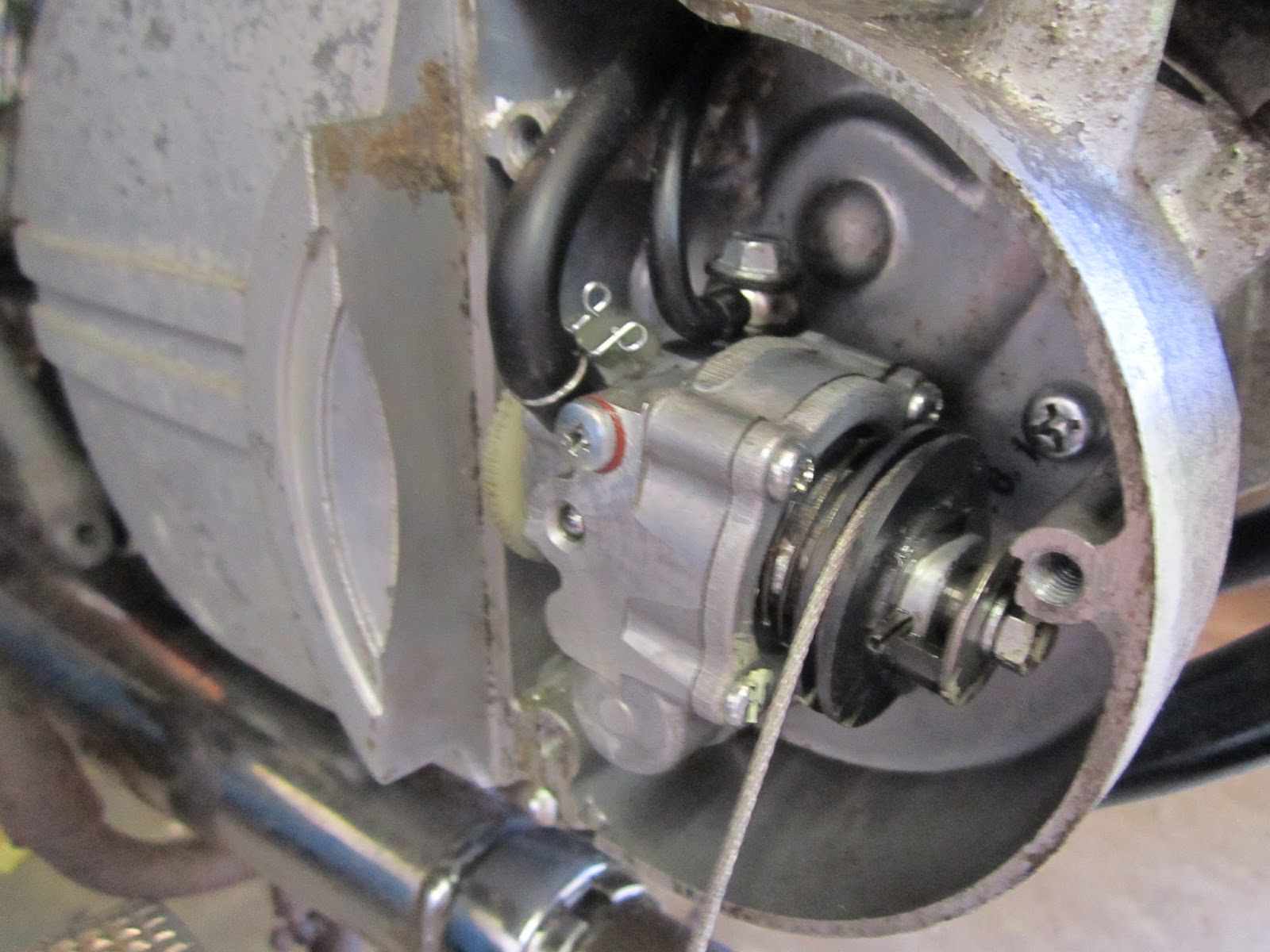 Don't forget this bolt above the oil pump spindle