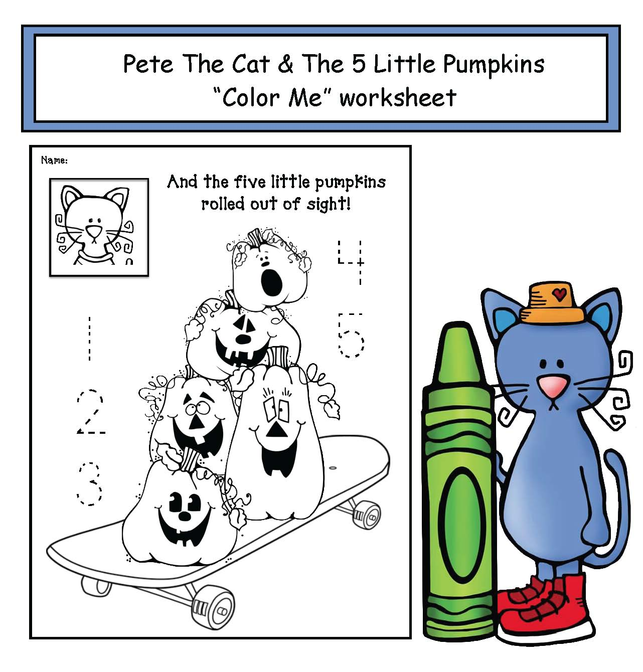Pete The Cat And The 5 Little Pumpkins