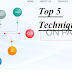 5 top on page seo techniques use karke blog ,website ki rankings boost kaise kare.