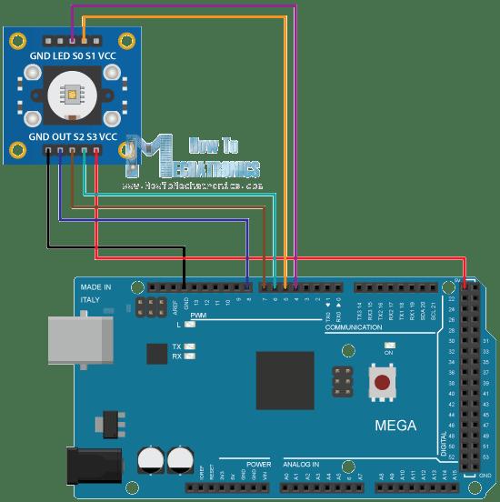 Arduino color sensing tutorial tcs