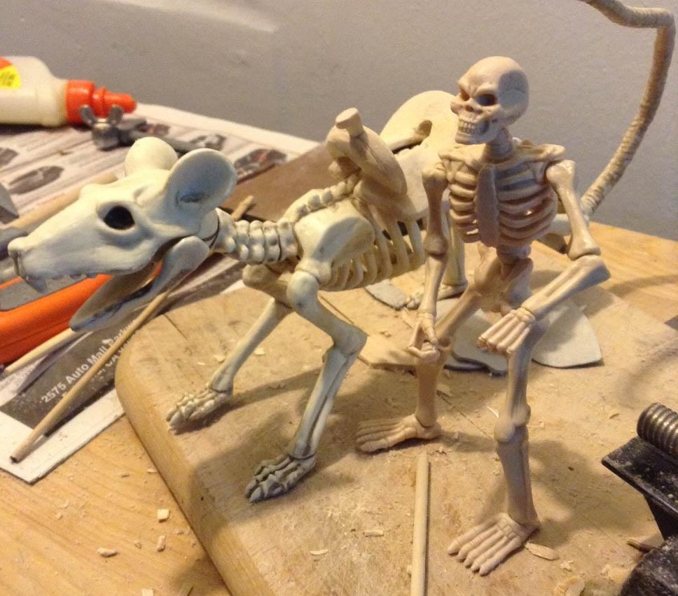 ze-mastor's miniatures, crafts and toy blog: halloween rat skeleton