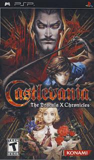 Portada del UMD de Castlevania: The Dracula X Chronicles, PSP, 2007, Konami